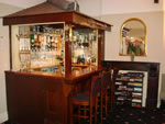 The bar at Hunters Lodge Hotel