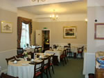 The breakfast room at Hunters Lodge Hotel